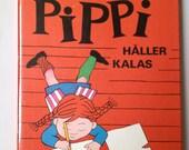 Vintage Swedish Children Book: Pippi Håller Kalas