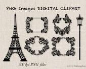 Vintage Paris Digital Clip Art PNG  Images