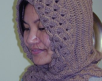 Crocodile Stitch Hood and Cowl - H3