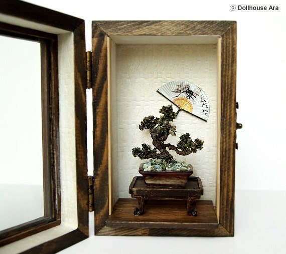 Oriental Bonsai tree (No.3), Asian Traditional exclusive decorations- Miniatures 1/12