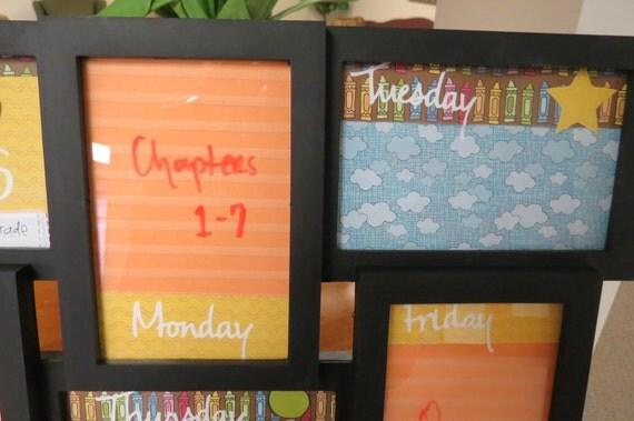 ABC 123 School Days Custom Made Marker Board, Teacher and Classroom Organizer