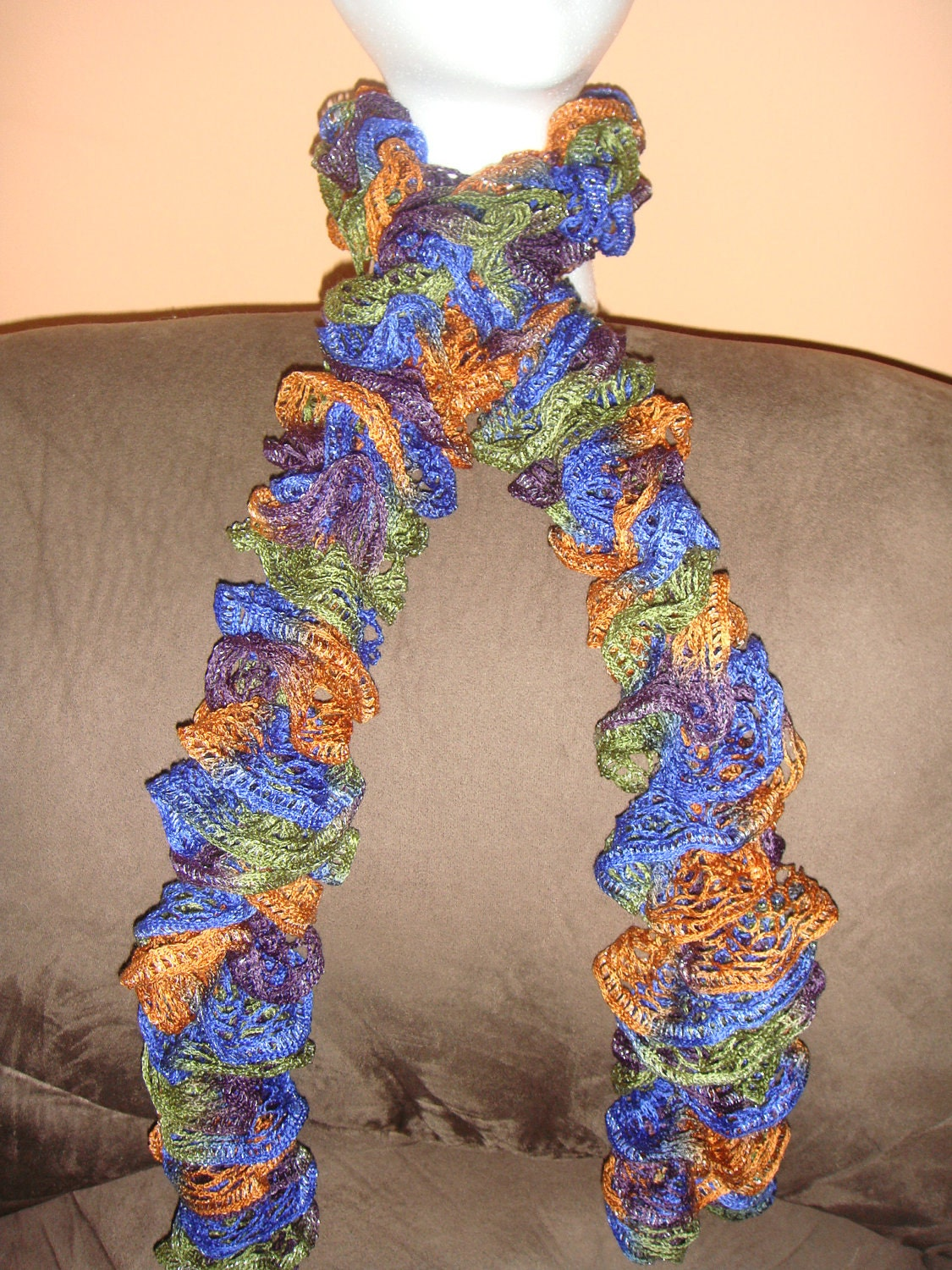 knitted scarf sashay mesh yarn disco new color