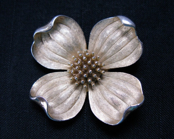 Vintage Crown TRIFARI dogwood brooch