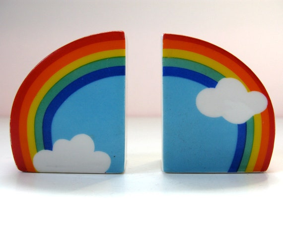 Rainbow Salt and Pepper Shakers / Made in Japan / Ceramic / Vandor Imports / enter SSRR20 at checkout for 20% off