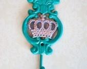 Painted Iron Teal Princess  Hook