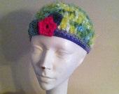 Girls Bright Spring Color Crochet Hat