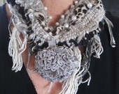 """Eco Friendly Jewelry/Scarves-""""Keep it On at the Dinner Party""""."""
