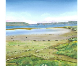 Sea River Limited Edition Giclee Print of watercolour painting
