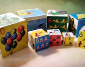Vintage Curious George Wooden Nesting Blocks - Excellent Condition