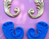 Pair of Large Scroll Silicone Molds