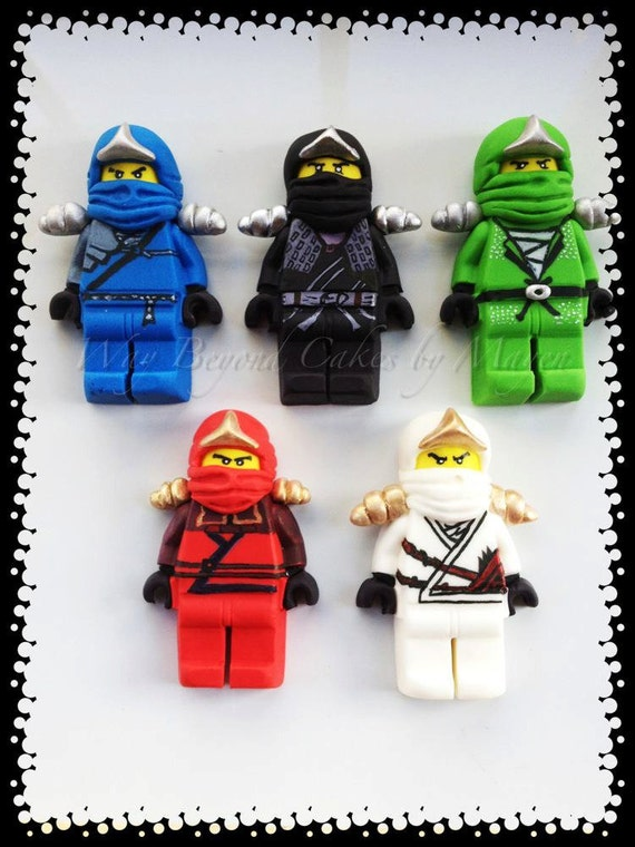 Items Similar To Custom Gumpaste Lego Ninjago Inspired