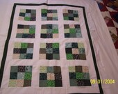 Gorgeous in Green Baby Quilt Top
