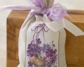 Easter Lavender Sachet / Vintage Easter Image on Linen Bag Sachet / Lavender/ Easter Gift