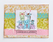 Happy Animals Congratulations Handmade Greeting Card