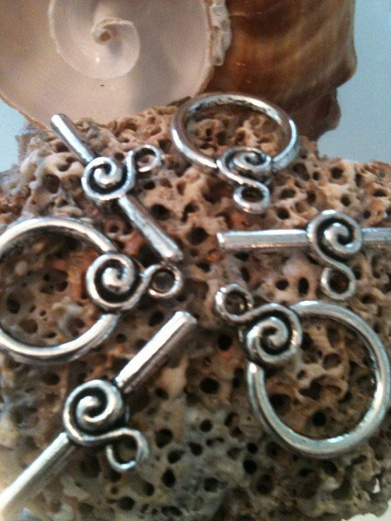 DESTASH Tibetan Silver Toggle, Jewelry Findings