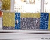 SALE Mosaic Wall Hook, Key Holder, Wall Art