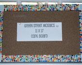 Multi Colored Mosaic Cork Board