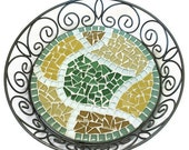 Mosaic Basket, Trivet, Candle Holder, Centerpiece