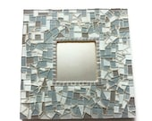 SALE Gray Mosaic Wall Mirror