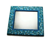 Teal Mosaic Wall Mirror