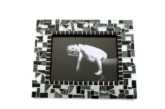 Black and White Mosaic Frame