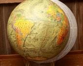 Readers Digest Globe, 1970's Modernist World Globe with Stylish Acrylic Base