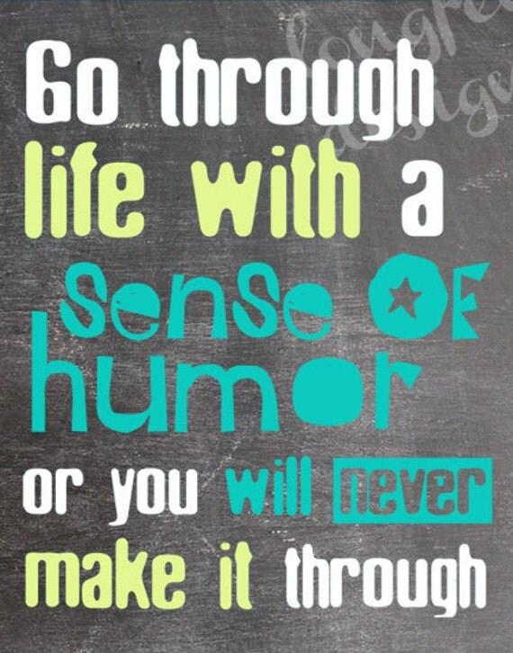 Chalkboard Look - Sense of Humor - Vertical Print