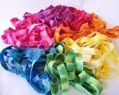 12 Yards - Hand Dyed Elastic Ribbon  - Perfect for DIY Hair Ties