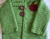 ON SALE! 12-18 Month Old Apple of My Eye Sweater (crochet)