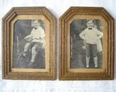 Antique Art Deco Picture Frames With Vintage Photographs