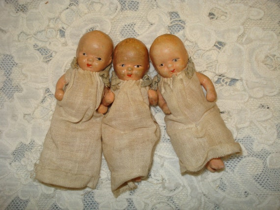 Reserved for Rosemary    Antique Baby Dolls Three Vintage Dolls Dionne