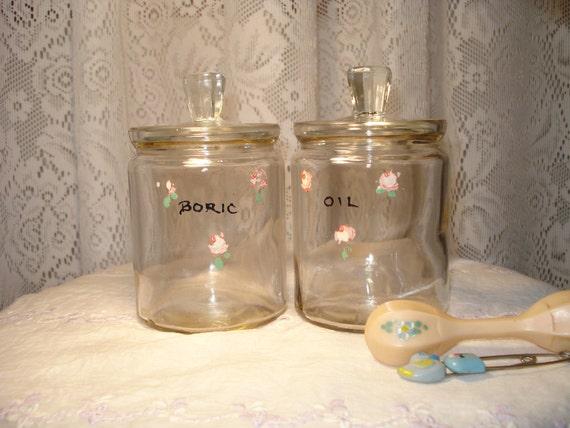 Vintage Nursery Glass Jars