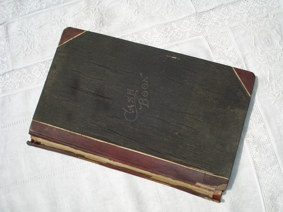 Reserved for Judith     Vintage Ledger Cash Book 1907