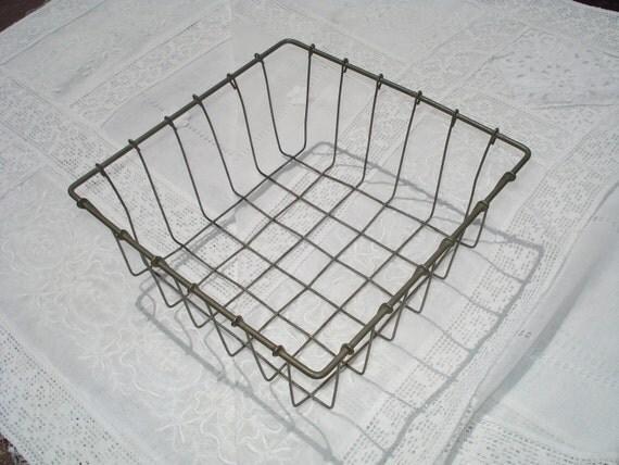 Vintage Square Wire Basket