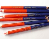 Blue and red pencil color - Lyra Duo Giant X 1