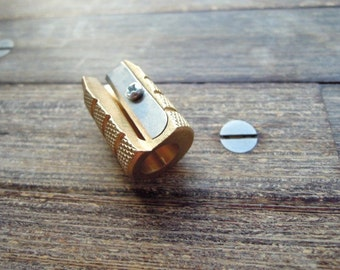 Brass pencil sharpener - grenade