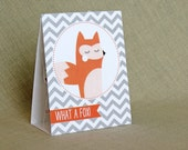 Printable Valentines - What a Fox - PDF File