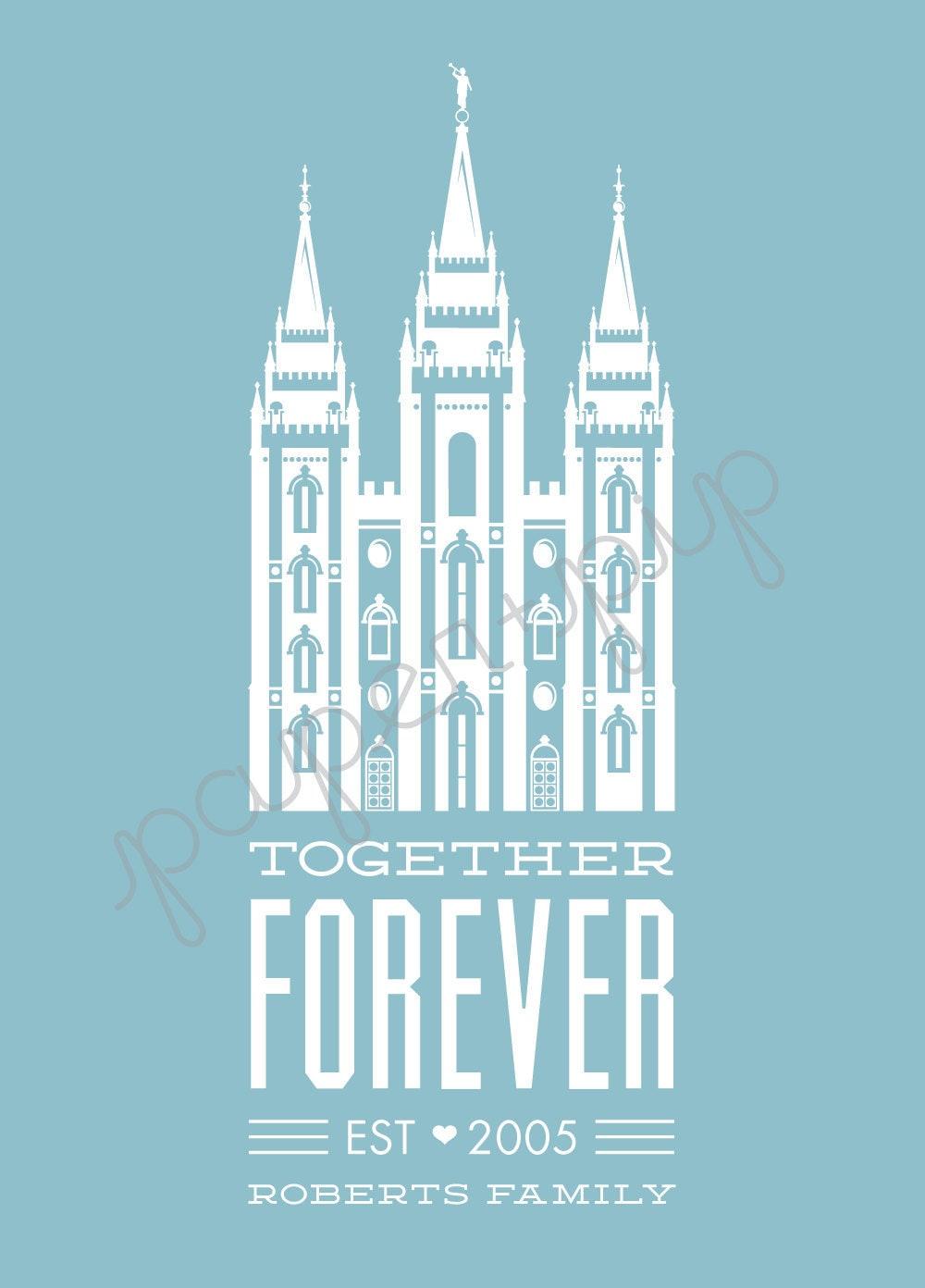 LDS Temple Print Together Forever Printable PDF File