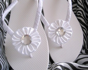 Snow White Wedding Flip Flops / Bride and Bridesmaids flip flops
