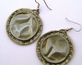 CLEARANCE Hammered, Sanded, Bottle-Cap Earrings: UP-CYCLED