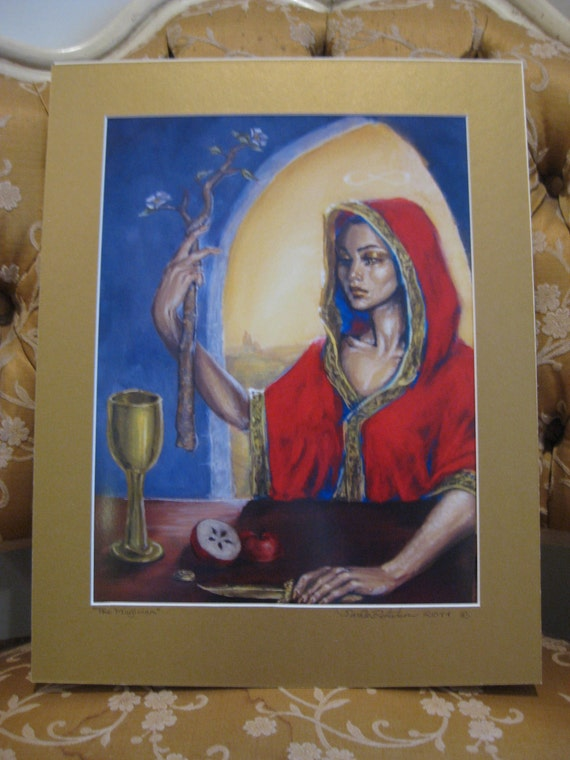"""The Magician - Print of Original Painting, matted to 11"""" x 14"""""""