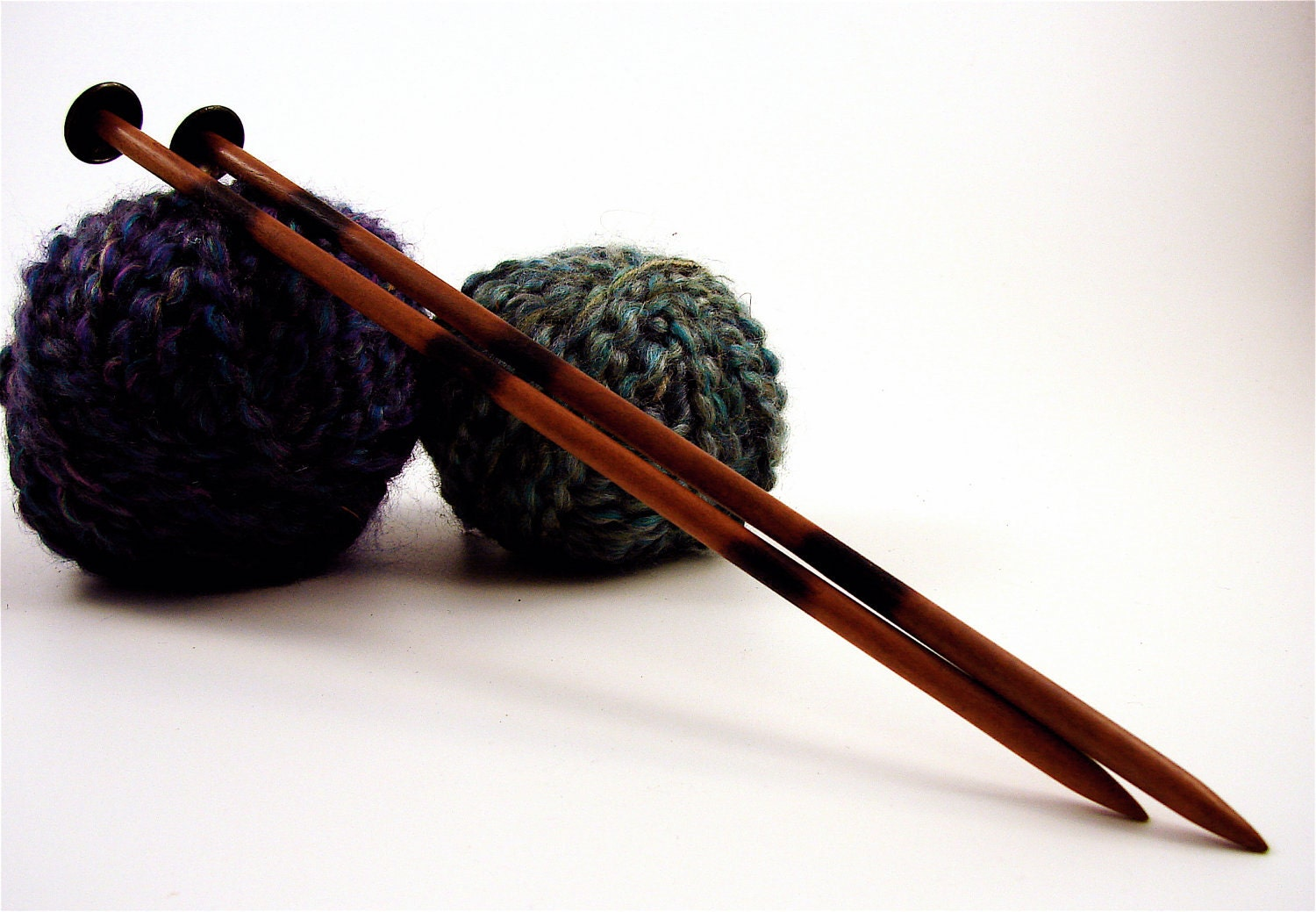 Wooden Knitting Needles : Hand carved Tiger wood Knitting needles size 9 by Wallingandsons