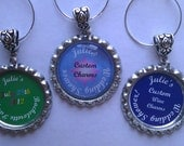 Custom  Wine Charms Set of 30 dates, names, letters, sayings