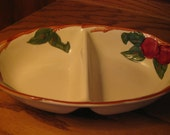 Vintage Franciscan Apple divided vegetable bowl California, USA