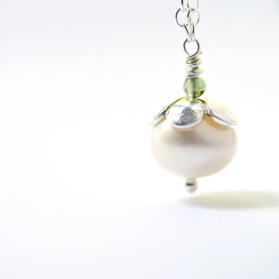 Pearl Jewelry Sterling Silver Necklace June Birthstone White Pendant