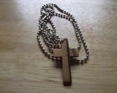 Handmade Wooden Cross Necklace