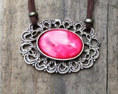 Red boho necklace ON SALE