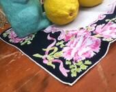 Vintage, Floral Handkerchief