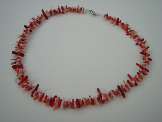 Flame coral necklace