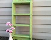 Green Apple Shelf / Vintage Wood Shelf / Kids Room / Beach